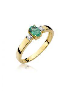 szmaragd pierścionek