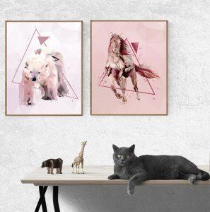 plakat koń artystyczny
